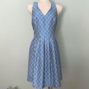 Gorgeous blue flower halter dress